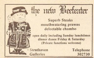 "THE BEEFEATER RESTAURANT IN HARARE (From the talk by Llew Hughes - A Trip Down Zimbabwe's Gourmet Lane"")"