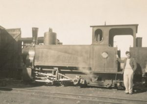 "COLONEL DON GRAINGER'S SCOTS FATHER INVENTED THE BUFFER THAT WAS FITTED ONTO EARLY STEAM LOCOS, TENDERS, TRUCKS AND COACHES (Photo from Inez Grainger's HSZ talk ""Don Grainger's Life"")"
