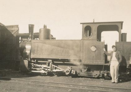 """COLONEL DON GRAINGER'S SCOTS FATHER INVENTED THE BUFFER THAT WAS FITTED ONTO EARLY STEAM LOCOS, TENDERS, TRUCKS AND COACHES (Photo from Inez Grainger's HSZ talk """"Don Grainger's Life"""")"""