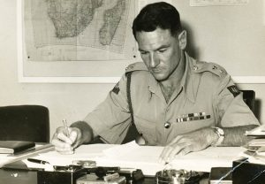 "DON GRAINGER GIVEN THE TASK OF FORMING THE RHODESIA AND NYASALAND CORPS OF SIGNALS (Photo from Inez Grainger's HSZ talk ""Don Grainger's Life"")"