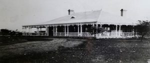 "HOUSE BUILT IN BULAWAYO FOR H. M. HOLE BY THE CHARTERED COMPANY (From the talk by Bob Armstrong "" Hugh Marshall Hole and his Matabeleland Stamp Currency Cards of 1900"")"