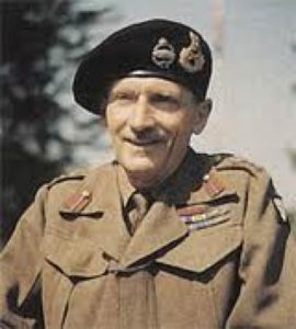 """WWII - GENERAL MONTGOMERY INVITES DON GRAINGER TO BE A SIGNALS  OFFICER AT HIS TACTICAL HEADQUARTERS FOR THE INVASION OF ITALY (Photo from Inez Grainger's HSZ talk """"Don Grainger's Life"""")"""